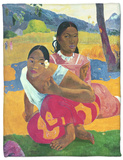 Nafea Faaipoipo (When are You Getting Married), 1892 Fleece Blanket by Paul Gauguin