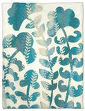 Blueberry Blossoms I Fleece Blanket by Chariklia Zarris