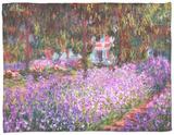 The Artist's Garden at Giverny, 1900 Fleece Blanket by Claude Monet