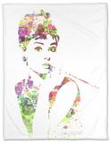 Audrey Hepburn 2 Fleece Blanket by  NaxArt
