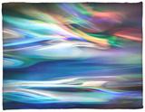 Blue Lagoon Fleece Blanket by Ursula Abresch