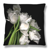 Frayed Tulips Throw Pillow by Magda Indigo