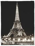 Eiffel Tower - Bateau mouche vedette de Paris - France Fleece Blanket by Philippe Hugonnard