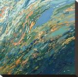 Blue Ocean Sunset Trykk på strukket lerret av Margaret Juul