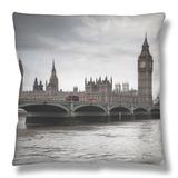 Big Ben, Houses of Parliament and Westminster Bridge, London, England, Uk Throw Pillow by Jon Arnold