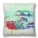 Porsche 911 Watercolor 2 Throw Pillow by  NaxArt