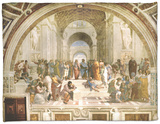 School of Athens, circa 1510-1512, One of the Murals Raphael Painted for Pope Julius II Fleece Blanket by  Raphael