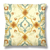 Bombay Design II Throw Pillow by Megan Meagher