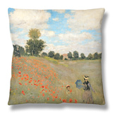 Wild Poppies, Near Argenteuil (Les Coquelicots: Environs D'Argenteuil), 1873 Throw Pillow by Claude Monet