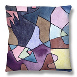 Dramatic Landscape; Dramatische Landschaft Throw Pillow by Paul Klee