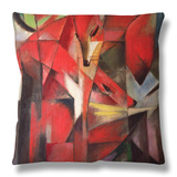 The Fox, 1913 Throw Pillow by Franz Marc