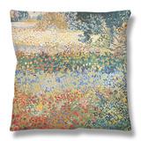 Garden In Bloom, Arles, C.1888 Throw Pillow By Vincent Van Gogh