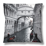 Bridge of Sighs, Doge's Palace, Venice, Italy Throw Pillow by Jon Arnold