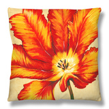 Parrot Tulip II Throw Pillow by Tim O'toole