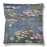 Water Lilies (Nympheas), c.1916 Throw Pillow by Claude Monet