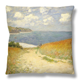 Path in the Wheat at Pourville, 1882 Throw Pillow by Claude Monet
