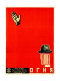 Movie Poster the Man of Fire Giclee Print by Nikolai Petrovich Prusakov