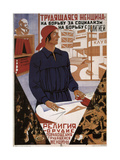 Working Woman in the Struggle for Socialism, Struggle Against Religion Giclee Print by  Klinch