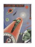 Movie Poster Travel to Mars Giclee Print by Nikolai Petrovich Prusakov