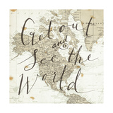 Get Out and See the World Square Arte por Sara Zieve Miller