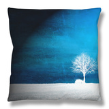 Sensation in Blue Throw Pillow by Philippe Sainte-Laudy