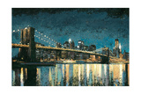 Bright City Lights Blue I Premium Giclee Print by James Wiens