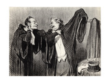 """Under Colleagues (From the Series """"Les Gens De Justice"""") Giclee Print by Honoré Daumier"""