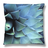 Pattern in Agave Cactus Throw Pillow by Adam Jones