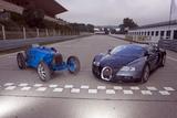 Bugatti 51 a und Veyron 16.4 Photographic Print by Achim Hartmann