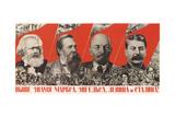 Higher Raise the Banner of Marx, Engels, Lenin and Stalin! Giclee-trykk av Gustav Klutsis