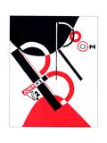 """Cover for the Magazine """"Broom"""" Impressão giclée por El Lissitzky"""