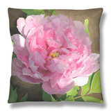 Peony in Pink II Throw Pillow by Megan Meagher