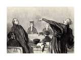 """An Advocate Who Is Evidently Fully Convinced... (From the Series """"Les Gens De Justice"""") Giclee Print by Honoré Daumier"""
