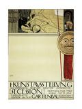 Poster for the First Art Exhibition of the Secession Art Movement Lámina giclée por Gustav Klimt