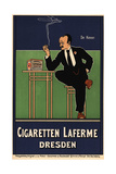 Advertising Poster for the Cigaretten Laferme Dresden Giclee Print by Fritz Rehm