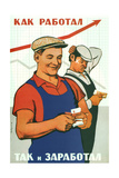 I Earned as Much as I Worked Giclee Print by Viktor Iwanovich Govorkov