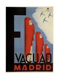 Evacuate Madrid Giclee Print by Antonio Cañavate Gómez