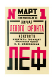 "Cover Design for the Journal of the Left Front of the Arts (""LEF"") Impressão giclée por Alexander Mikhailovich Rodchenko"