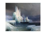 Icebergs in Antarctica Giclée-tryk af Ivan Konstantinovich Aivazovsky