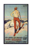 Les Rasses, Sainte-Croix Impressão giclée por François Jacques