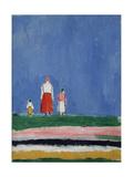 Three Figures Giclee Print by Kasimir Severinovich Malevich