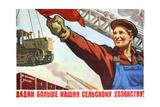 More Machines for the Collective Farming! Giclee Print by Veniamin Markovich Briskin