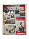 History of the VKP(b) in the Posters (In Kazakh) Impressão giclée por Alexander Mikhailovich Rodchenko
