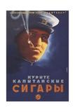Smoke the Capitan's Cigarettes Giclee Print by Sergei Georgievich Sakharov