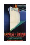 Rms Empress of Britain Giclée-tryk af Clement Dane