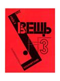 """Cover for the Magazine """"Object"""" Impressão giclée por El Lissitzky"""