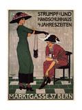 Stocking and Glove House Giclee Print by Burkhard Mangold