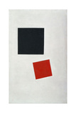 Painterly Realism of a Boy with a Knapsack. Color Masses in the Fourth Dimension Giclee Print by Kasimir Severinovich Malevich