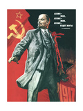 Lenin Lived, Lenin Lives, and Lenin Will Go on Living! Giclée-tryk af Viktor Semyonovich Ivanov