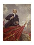 Lenin on a Rostrum Giclee-trykk av Alexander Mikhailovich Gerasimov